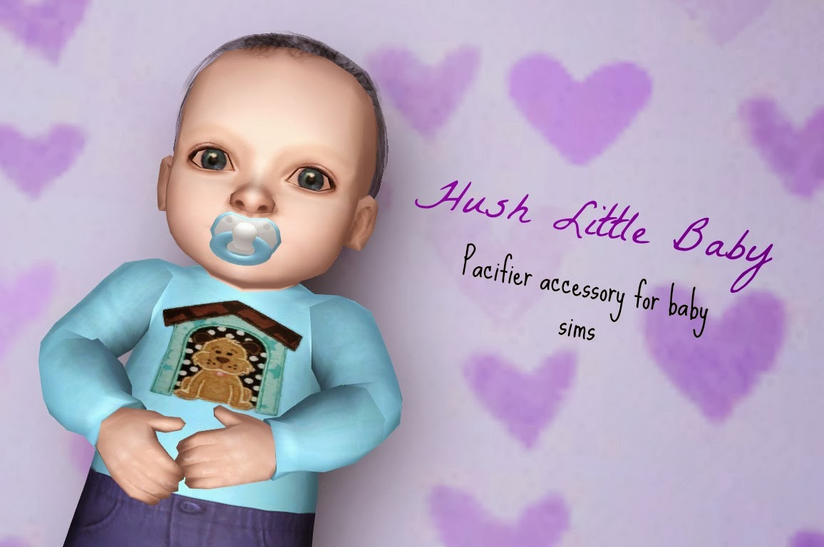 My Sims 3 Blog Hush Little Baby Pacifier Accessory For Infants By Purpleplumbobs