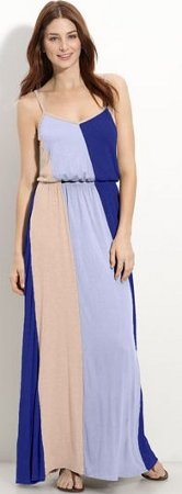 Olivia Moon Colorblock Maxi Dress