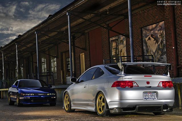 Nissan Silvia S13 & Honda Integra IV DC5, japońskie sportowe coupe, JDM, VTEC