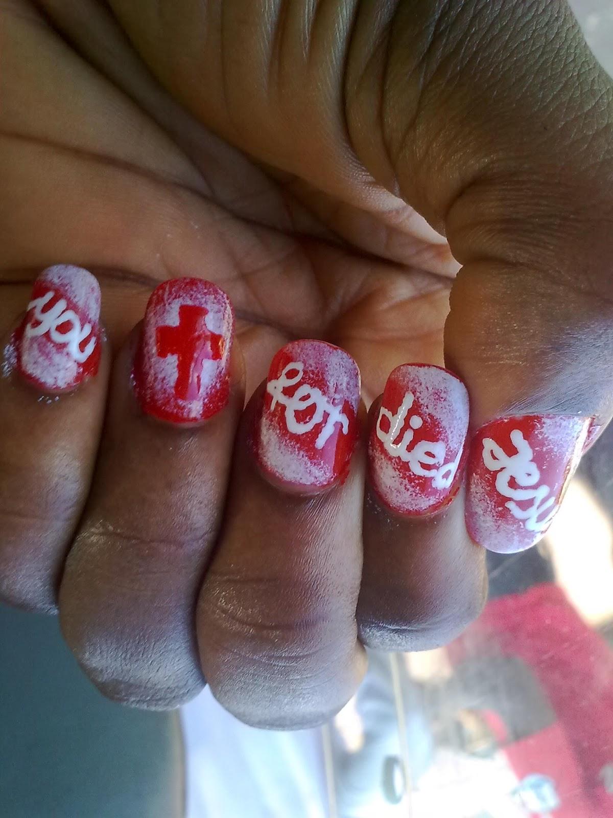 More Than Just Scribbles: \'Jesus\' nail art: Tutorial