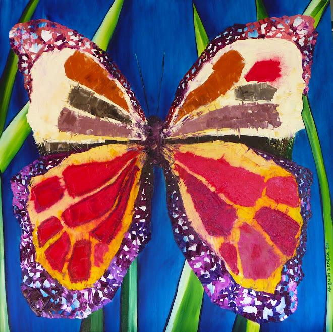 butterfly 100 x 100 cm