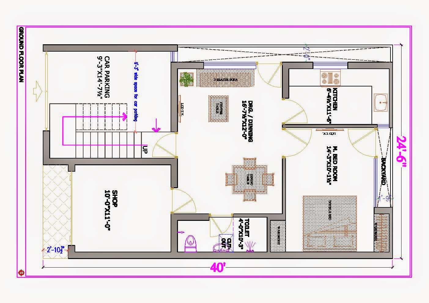 Ghar planner leading house plan and house design for Small house design drawing