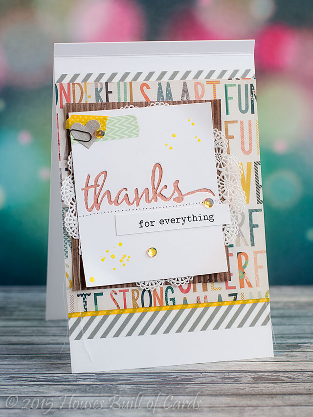Houses Built Of Cards Pastor Appreciation Thank You Cards