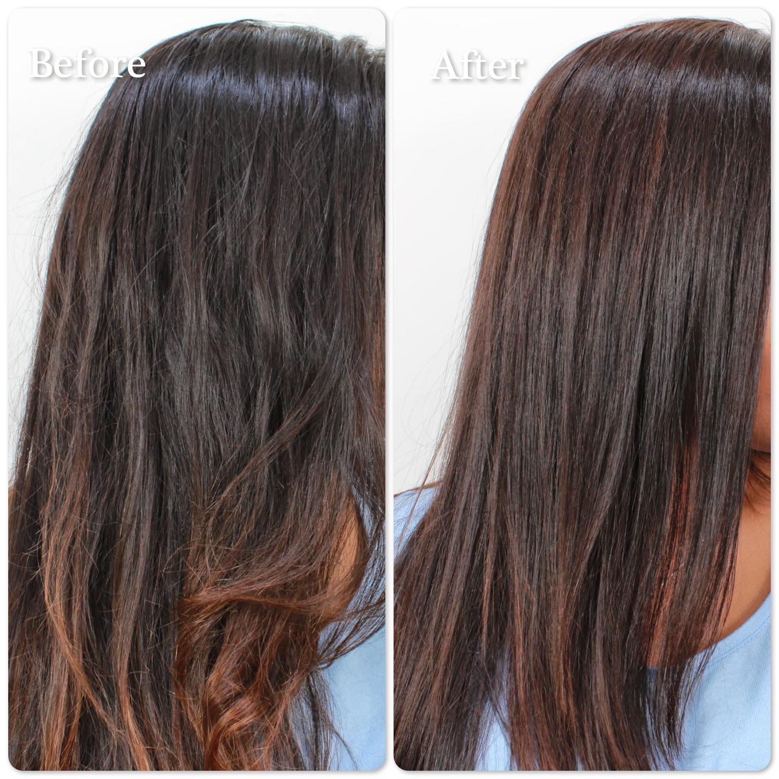 Bronze Highlights On Black Hair Mild highlights with medium