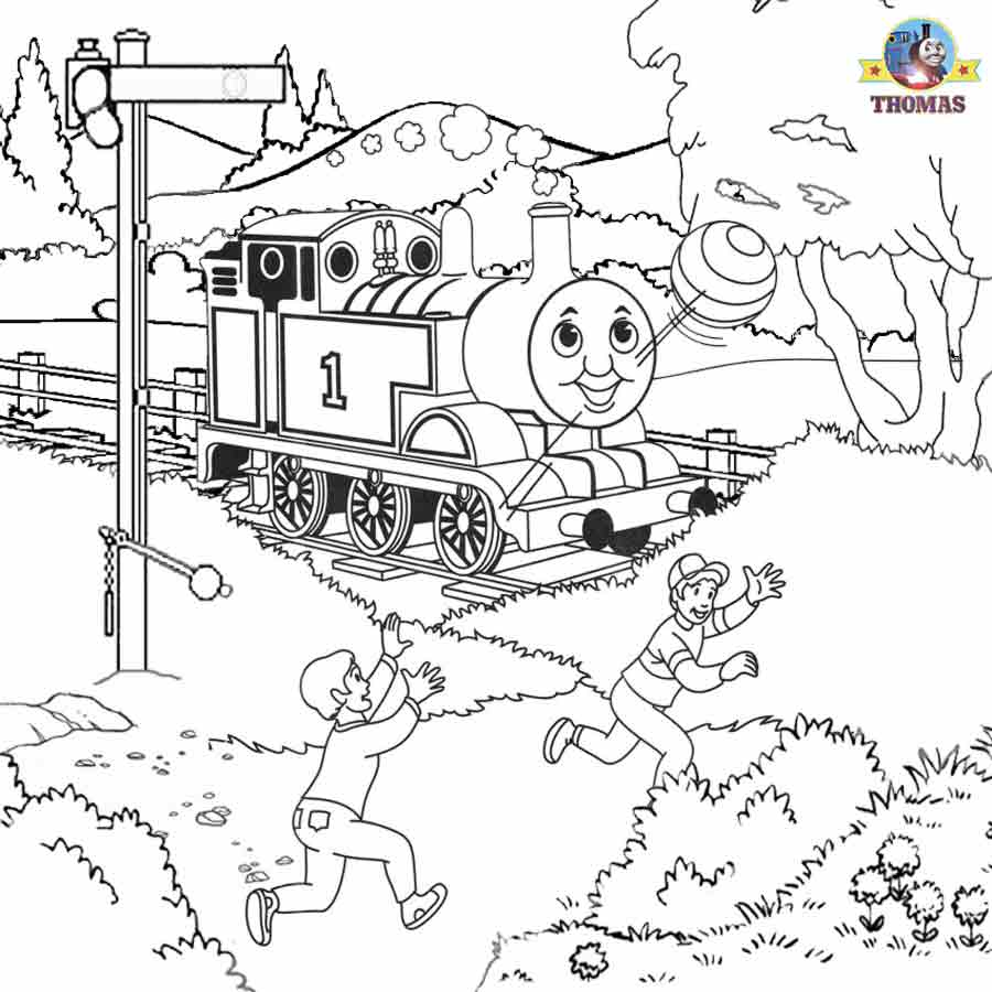 Thomas the train coloring pictures for kids to print out for Train coloring book pages