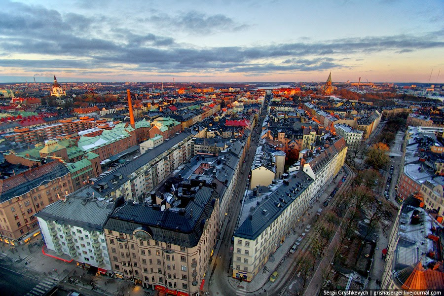 Стокгольм с высоты птичьего полета. Фото