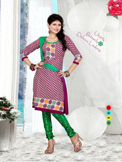 Designer Pure Cotton Ethnic Printed Salwar Kameez With Chiffon Dupatta