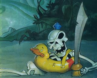 Baby Skull Pirate Dark Gothic Wallpaper