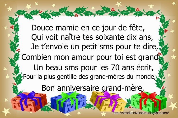 Sms Anniversaire Maman 70 Ans