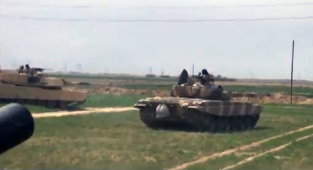 American Abrams and Russian T-72C