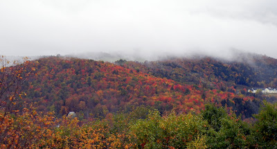 Beautiful fall colors in Vermont as seen from the Hubbard Tower in Montpelier