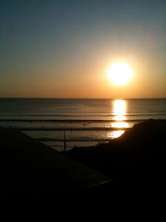 Watergate bay sunset Cornwall