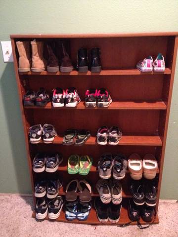 for the past 8 years many people seem to be amazed at how we keep our shoes organized wellmy parents gave us this cd shelf system from big lots and - Big Lots Bookshelves