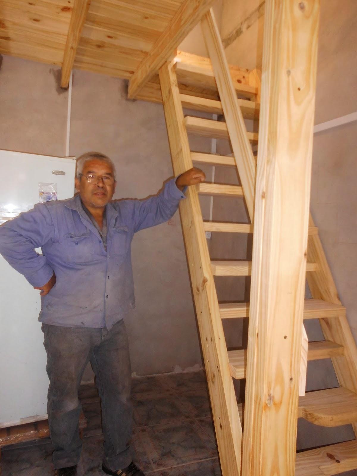 Entrepisos de madera escaleras escaleras for Escalera de madera para entrepiso