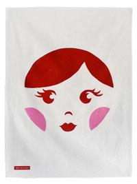 Sweet Babushka Tea Towel Scarlet