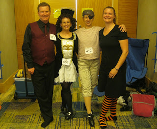 Adult Irish dancers from the  Bell School of Dance in Pittsburgh dressed for a feis special  Photo: courtesy Jennifer Irvin