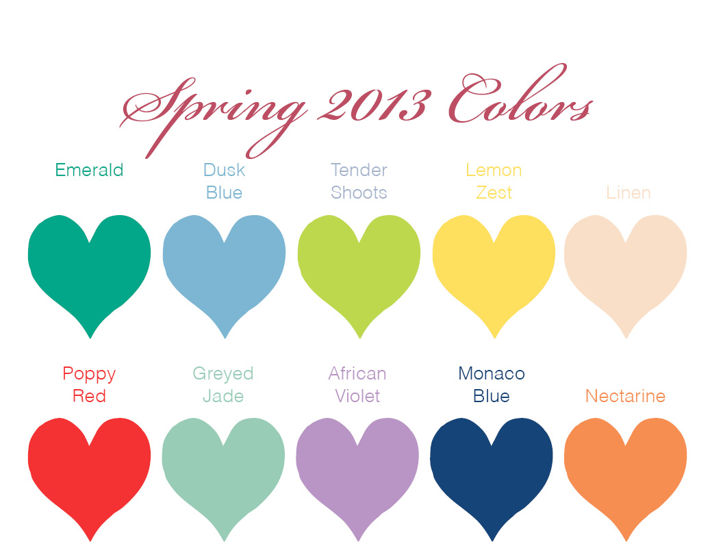 Beverly Hills Dj Company 2013 Spring Wedding Colors