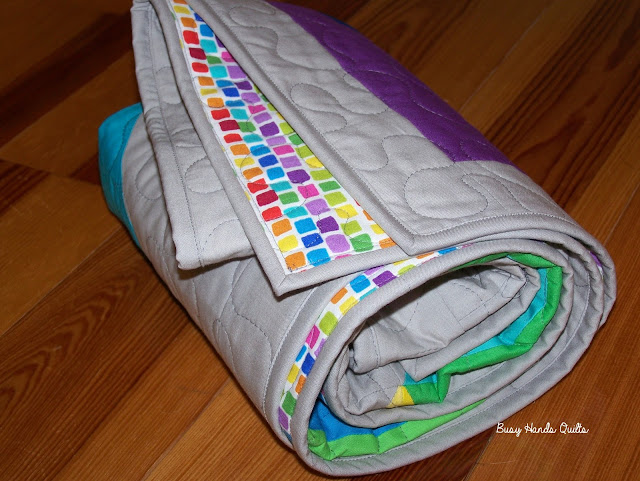 Busy Hands Quilts Rainbow Streak Baby Quilt My Blogger S
