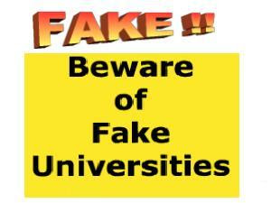 List Of Fake Universities In India As In 2013 By UGC