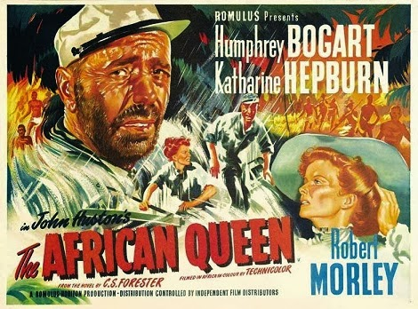 film reviews on the african queen The african queen is one of those movies that has it all: adventure, excitement, humor and romance the only pairing of two of classic hollywood's most legendary stars, one wonders after seeing this film, why no one had discovered katharine hepburn and humphrey bogart's incredible on-screen rapport before, and why no one bothered to take.