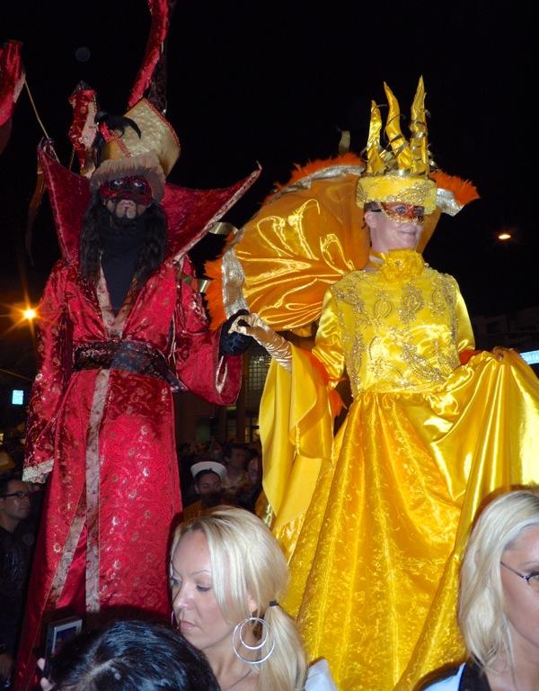 West Hollywood Halloween 2009 Stiltwalker costumes
