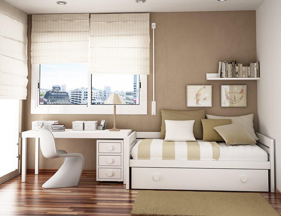Dormitorio juvenil para espacios peque os dormitorios con estilo Colores para pintar habitacion juvenil