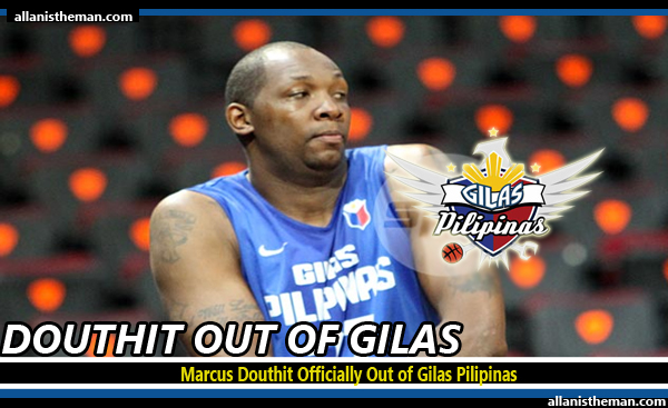Marcus Douthit Officially Out of Gilas Pilipinas