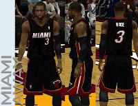 NBA 2K13 Miami Heat Away 'MIAMI' logo