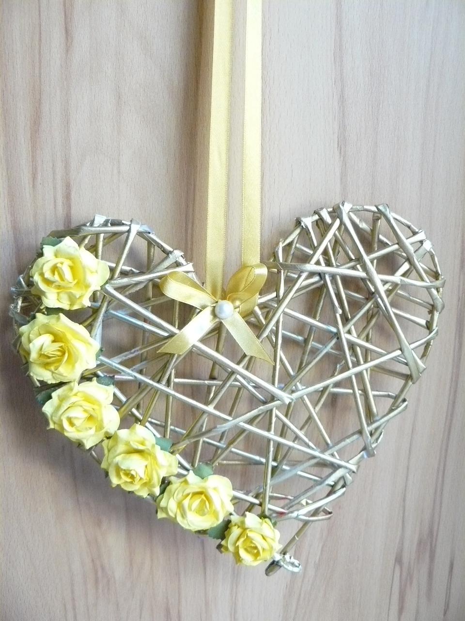 Papierowa wiklina serce