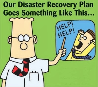 Dilbert: Disaster Plan.