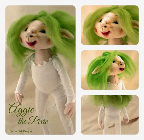 ooak cloth art doll aggie