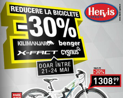 Catalog Hervis Sports Reducere 30% la Biciclete