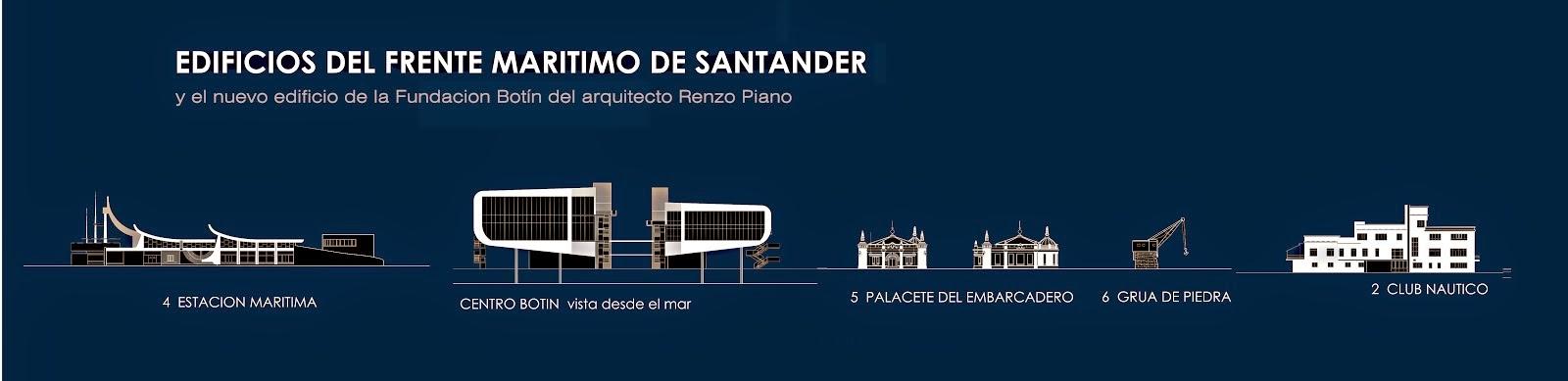 taza con frente maritimo de Santander