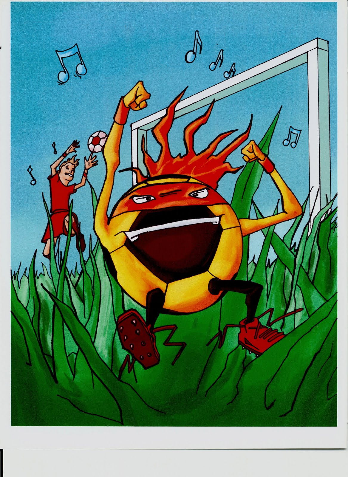 """ Soccer Tales-Legend of the Shoelace Monster"""