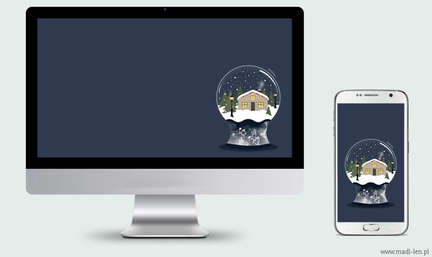 Śnieżna szklana kula - tapeta do pobrania