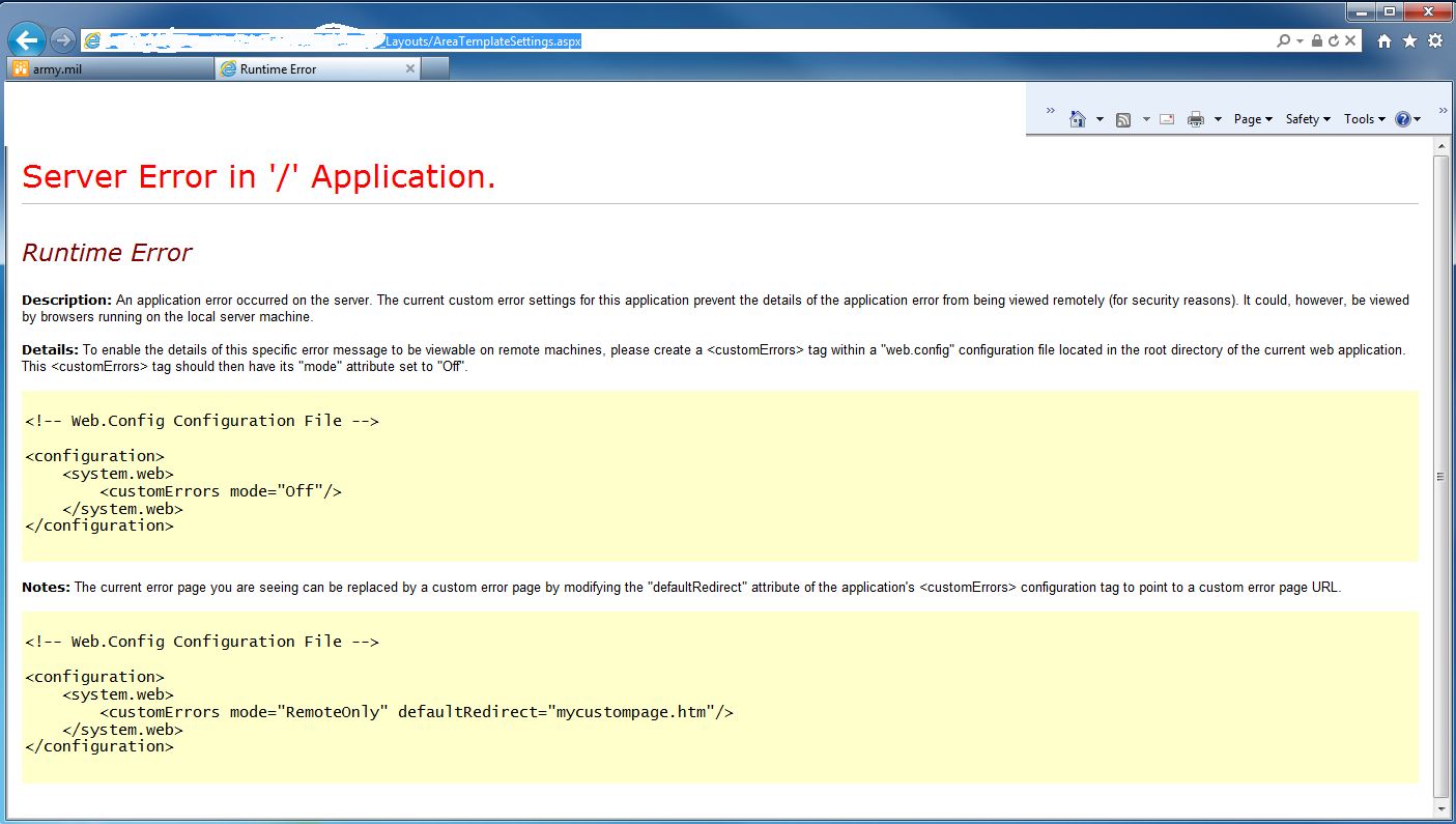 SharePoint Evangelist: Server Error in \'/\' Application when you open ...