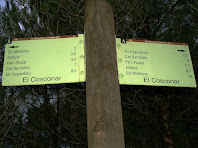 Indicador de camins a la zona d'El Cosconar