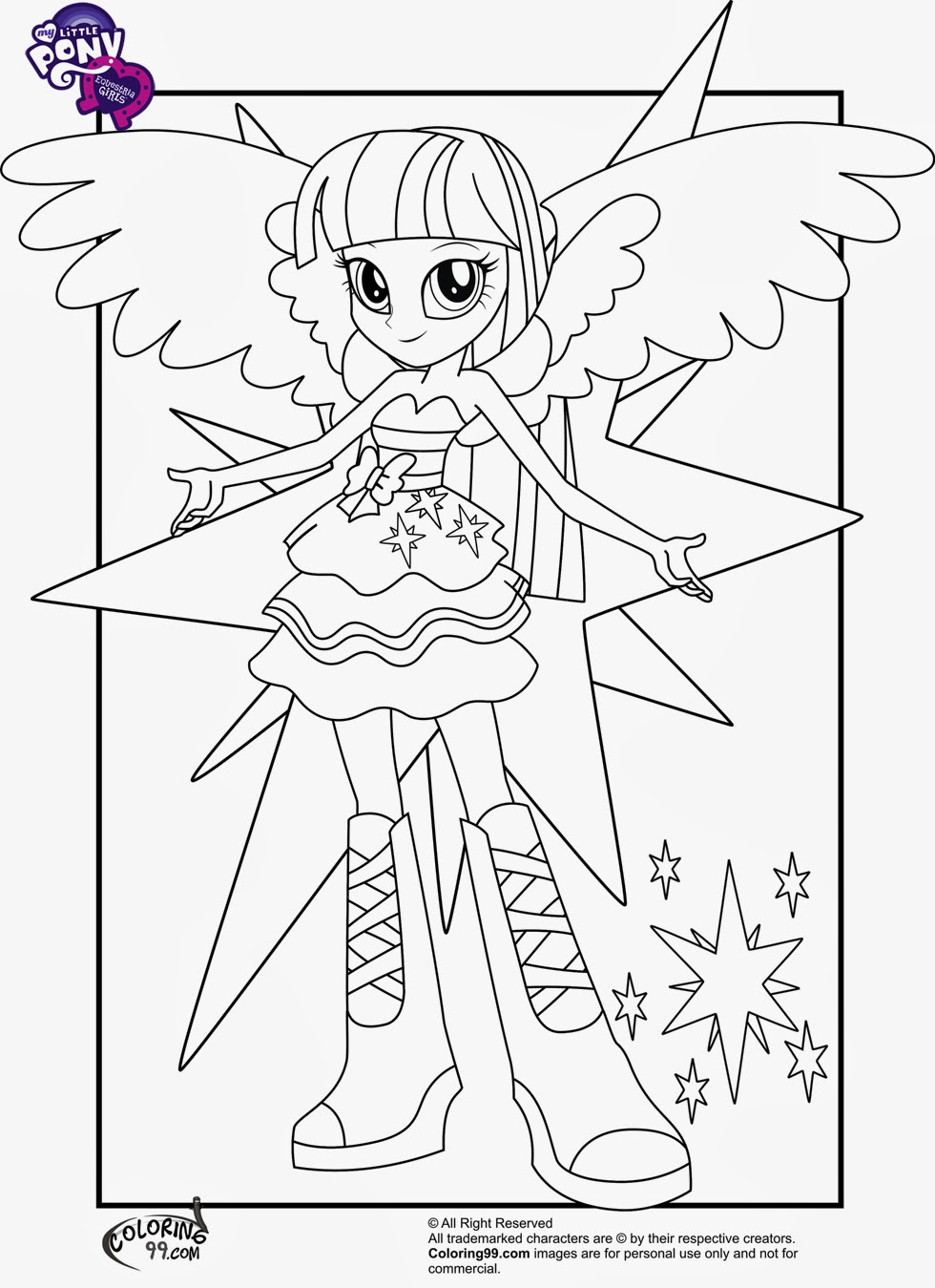 Free Coloring Pages Of Mlp Equestria Girls Coloring Pages Of My Pony Equestria Free