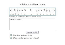 Escribir Braille on line