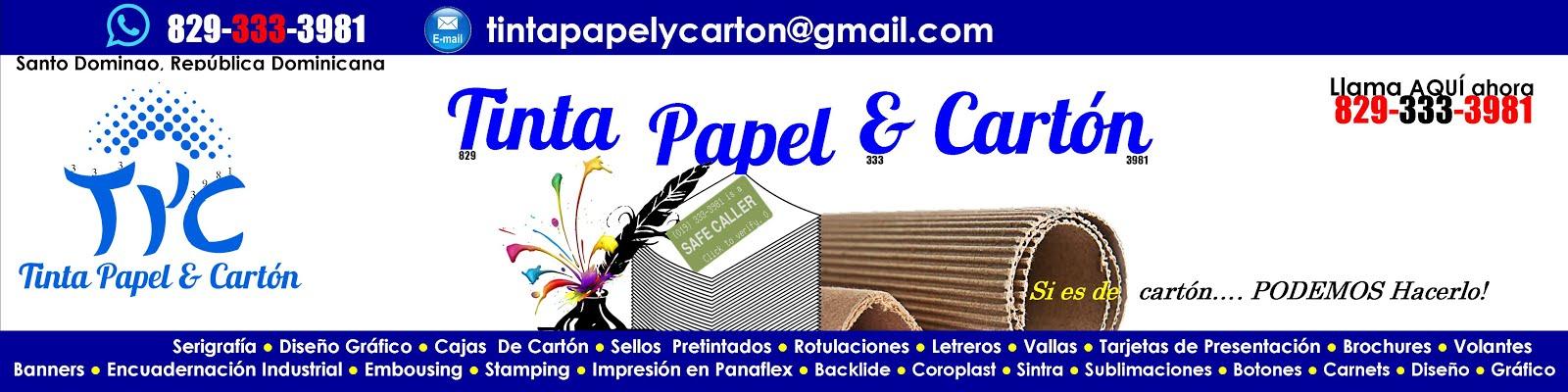 Tinta Papel & Cartón..... Si es de cartón, Podemos hacerlo!