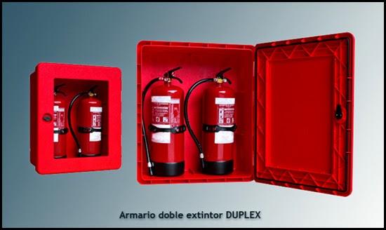 Armario para extintores doble DUPLEX