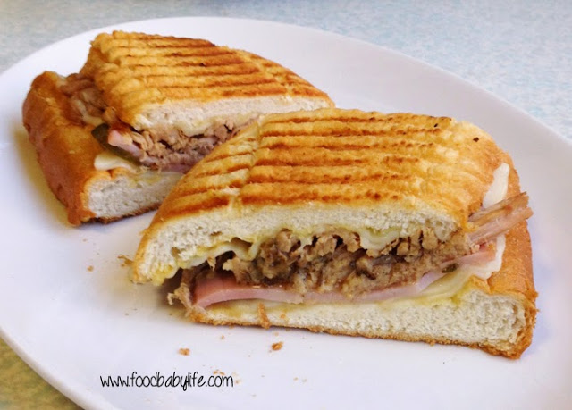 Featured Recipe | Fantastic Cuban Sandwiches from Food.Baby.Life #SecretRecipeClub #recipe #sandwiches #sandwich #pork