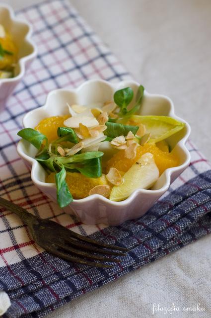 Sałatka z cykorii i pomarańczy przepis
