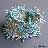 bracelet freeform peyote beading beadwork beadweaving free form jewelry