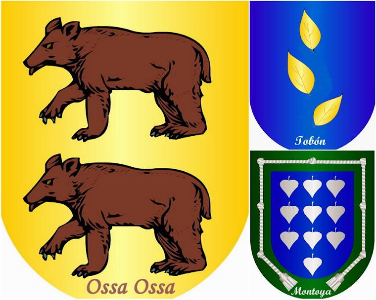 Ossa, Tobón y Montoya Orígenes del los apellido. Italia, Irlanda y España.