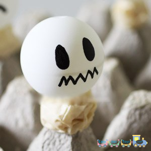 Handmade Halloween ghosts for decorations 2