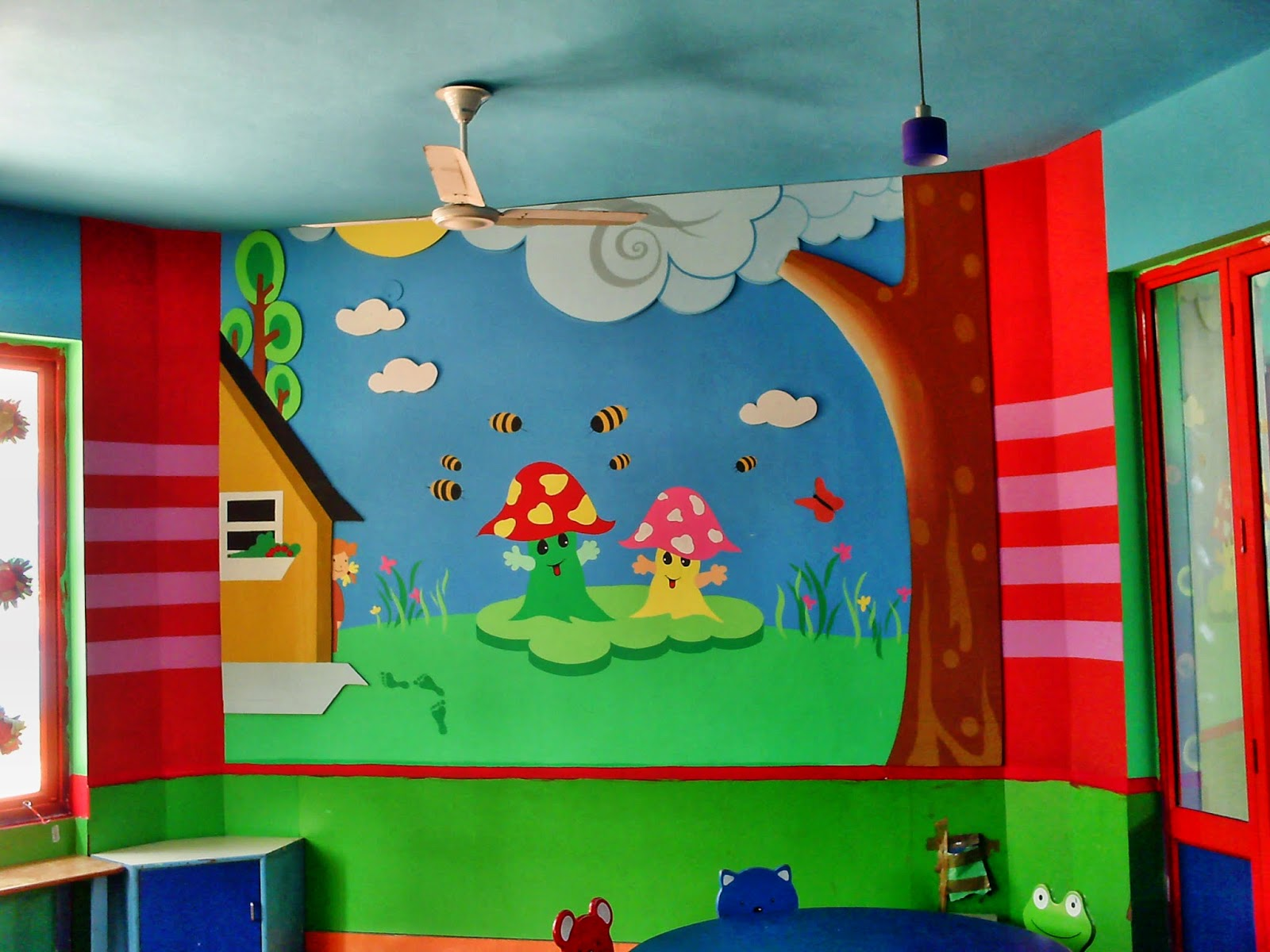 Wall Art For Play School : Best wall paintings of design sch play school
