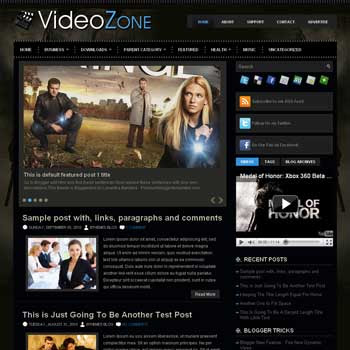VideoZone blog template. template image slider blog. magazine blogger template style. wordpress theme to blogger. template video blog template. template video for blogger blog