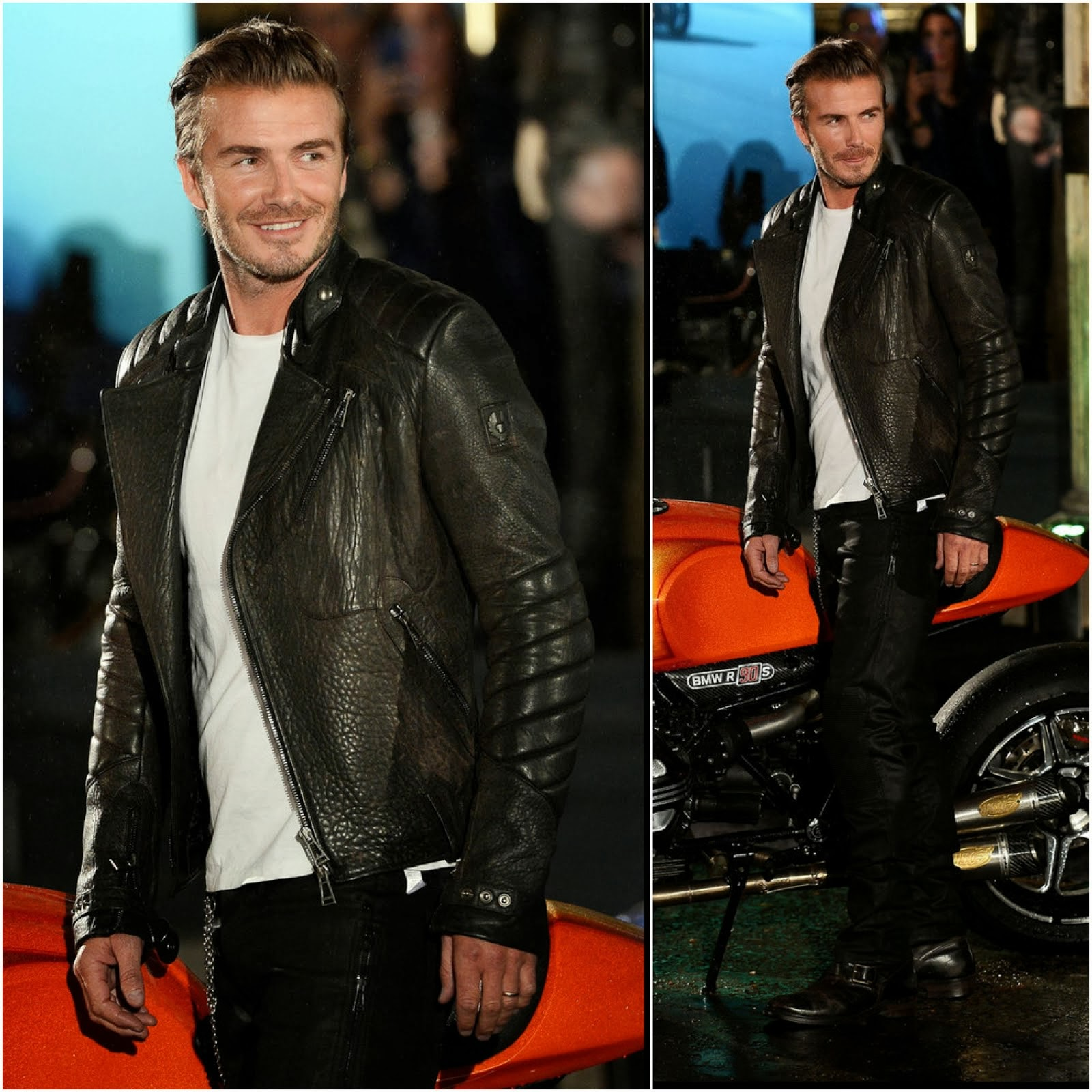 00O00 Menswear Blog: David Beckham in Belstaff - Belstaff House Opening, London