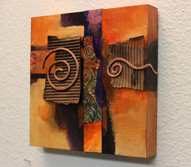 This is a little mixed media C Abstract By Carol Nelson Carol Nelson Fine